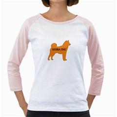 Shiba Inu Name Silo Color Women s Long Cap Sleeve T-Shirt (White)