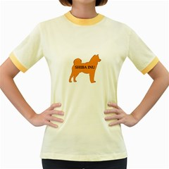 Shiba Inu Name Silo Color Women s Ringer T-shirt (Colored)