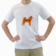 Shiba Inu Name Silo Color Men s Two-sided T-shirt (White)