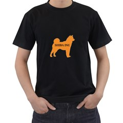Shiba Inu Name Silo Color Men s Two Sided T-shirt (Black)