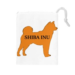 Shiba Inu Name Silo Color Drawstring Pouch (Large)