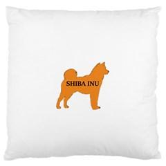 Shiba Inu Name Silo Color Large Flano Cushion Case (Two Sides)