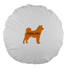 Shiba Inu Name Silo Color Large 18  Premium Flano Round Cushion