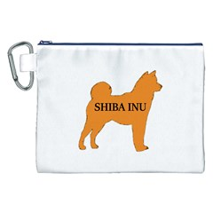 Shiba Inu Name Silo Color Canvas Cosmetic Bag (XXL)