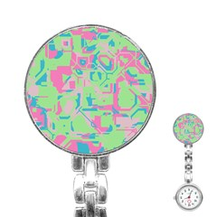 Pastel Chaos Stainless Steel Nurses Watch
