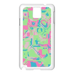 Pastel chaos Samsung Galaxy Note 3 N9005 Case (White)