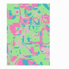 Pastel Chaos Small Garden Flag (two Sides)
