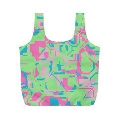 Pastel chaos Full Print Recycle Bag (M)