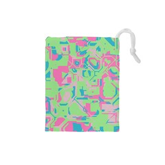 Pastel chaos Drawstring Pouch (Small)