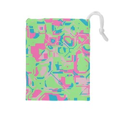 Pastel Chaos Drawstring Pouch (large)