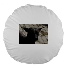 mexican hairless / Xoloitzcuintle Large 18  Premium Flano Round Cushion