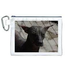 mexican hairless / Xoloitzcuintle Canvas Cosmetic Bag (XL)