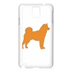 Shiba Inu Silo Color Samsung Galaxy Note 3 N9005 Case (White)