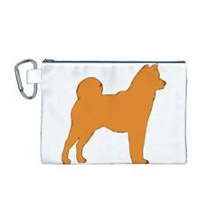 Shiba Inu Silo Color Canvas Cosmetic Bag (Medium)