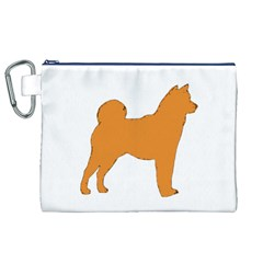 Shiba Inu Silo Color Canvas Cosmetic Bag (XL)