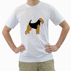 Welsh Terrier Silo Color Men s Two-sided T-shirt (White)