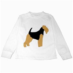 Welsh Terrier Silo Color Kids Long Sleeve T-Shirt