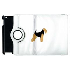Welsh Terrier Silo Color Apple iPad 3/4 Flip 360 Case