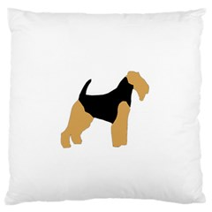 Welsh Terrier Silo Color Standard Flano Cushion Case (Two Sides)