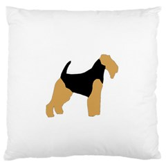 Welsh Terrier Silo Color Large Flano Cushion Case (Two Sides)