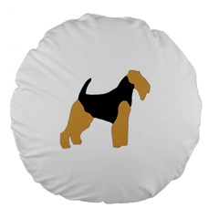 Welsh Terrier Silo Color Large 18  Premium Flano Round Cushion