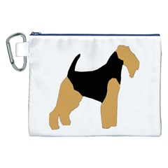 Welsh Terrier Silo Color Canvas Cosmetic Bag (XXL)