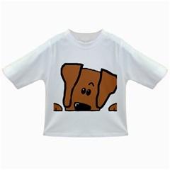 Peeping Vizsla Baby T-shirt