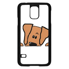 Peeping Vizsla Samsung Galaxy S5 Case (Black)