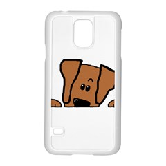 Peeping Vizsla Samsung Galaxy S5 Case (white)