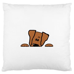 Peeping Vizsla Large Flano Cushion Case (One Side)