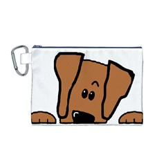 Peeping Vizsla Canvas Cosmetic Bag (Medium)