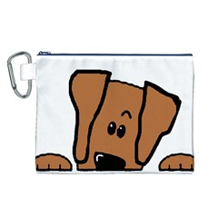 Peeping Vizsla Canvas Cosmetic Bag (large)