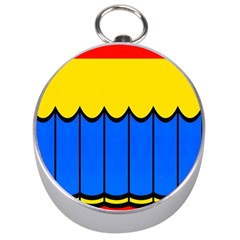 Colorful curtain Silver Compass