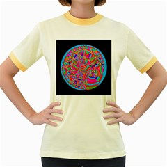 Magical Trance Women s Ringer T Shirt (colored)