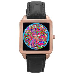 Magical Trance Rose Gold Leather Watch
