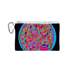 Magical Trance Canvas Cosmetic Bag (small)