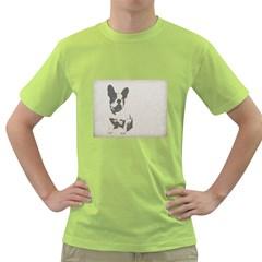 French Bulldog Art Men s T-shirt (Green)