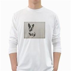 French Bulldog Art Men s Long Sleeve T-shirt (White)