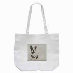 French Bulldog Art Tote Bag (White)