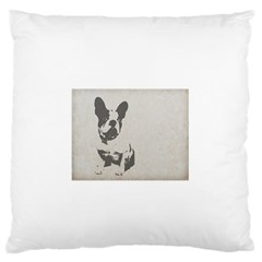 French Bulldog Art Large Flano Cushion Case (Two Sides)