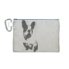 French Bulldog Art Canvas Cosmetic Bag (Medium)