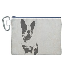 French Bulldog Art Canvas Cosmetic Bag (Large)