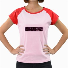 Keeshond Eyes Women s Cap Sleeve T-Shirt (Colored)