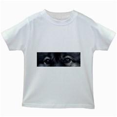 Keeshond Eyes Kids T-shirt (White)