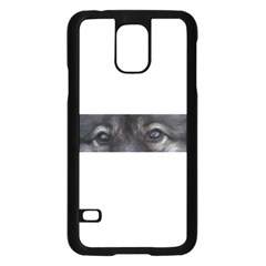 Keeshond Eyes Samsung Galaxy S5 Case (Black)