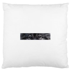 Keeshond Eyes Standard Flano Cushion Case (One Side)