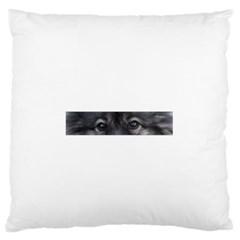 Keeshond Eyes Large Flano Cushion Case (One Side)