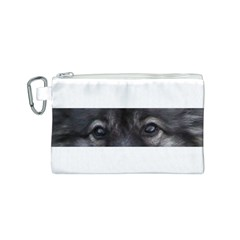Keeshond Eyes Canvas Cosmetic Bag (Small)
