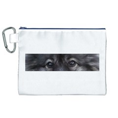 Keeshond Eyes Canvas Cosmetic Bag (XL)