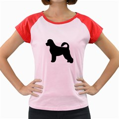 Portugese Water Dog Silhouette Women s Cap Sleeve T-Shirt (Colored)